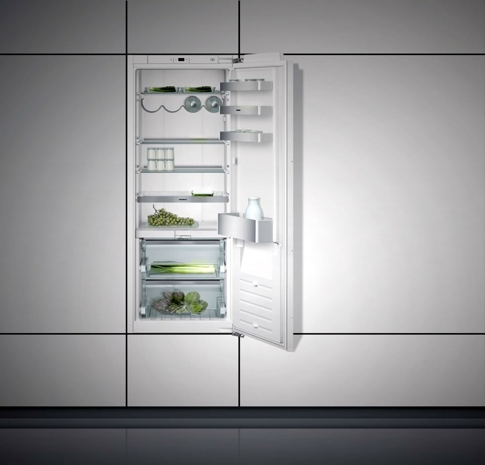 Refrigerator 200 series with fresh cooling close to 0 °C fully integrated Niche width 56 cm, Niche height 140 cm RC242203