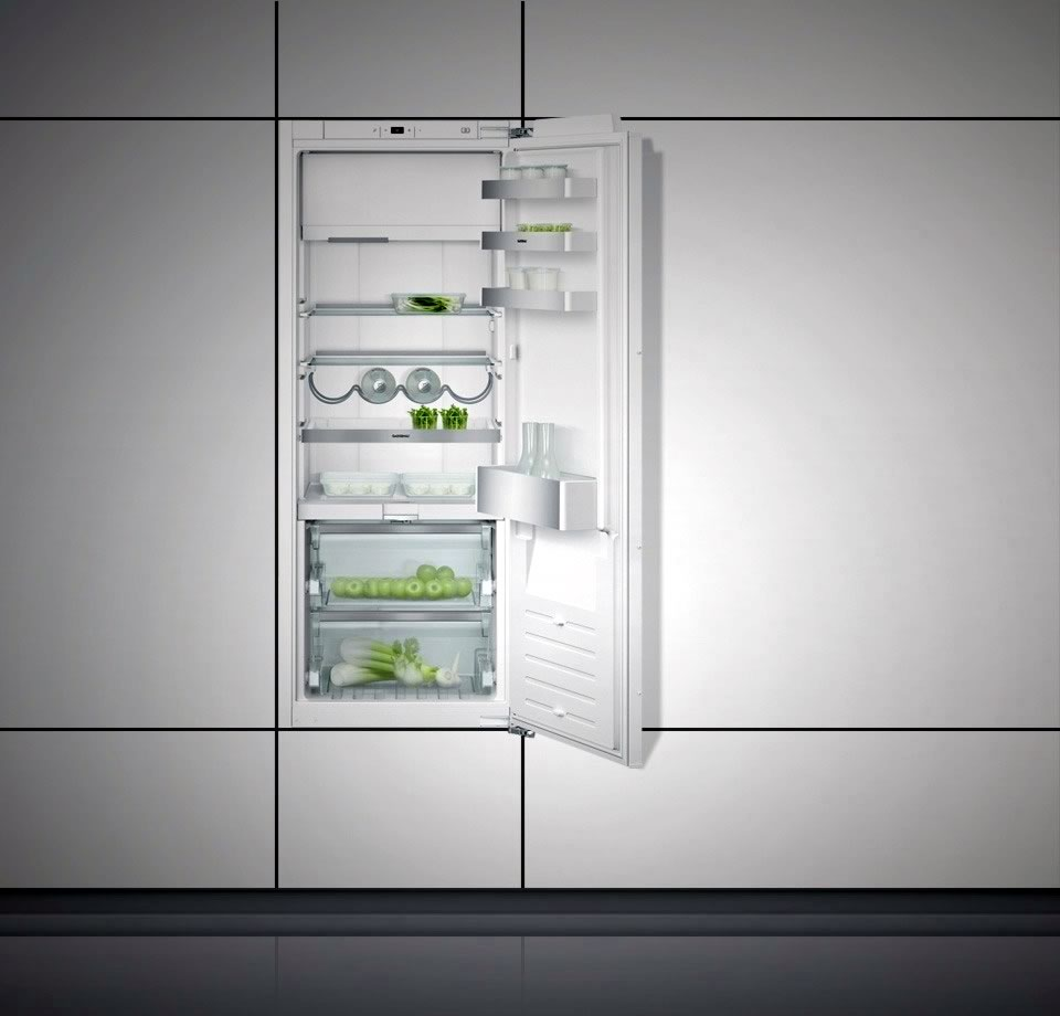 Fridge-freezer combination 200 series with fresh cooling close to 0 °C fully integrated Niche width 56 cm, Niche height 140 cm RT242203