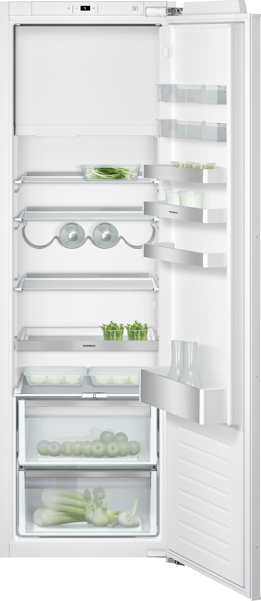 Fridge-freezer combination 200 series with fresh cooling fully integrated Niche width 56 cm, Niche height 177.5 cm RT282203