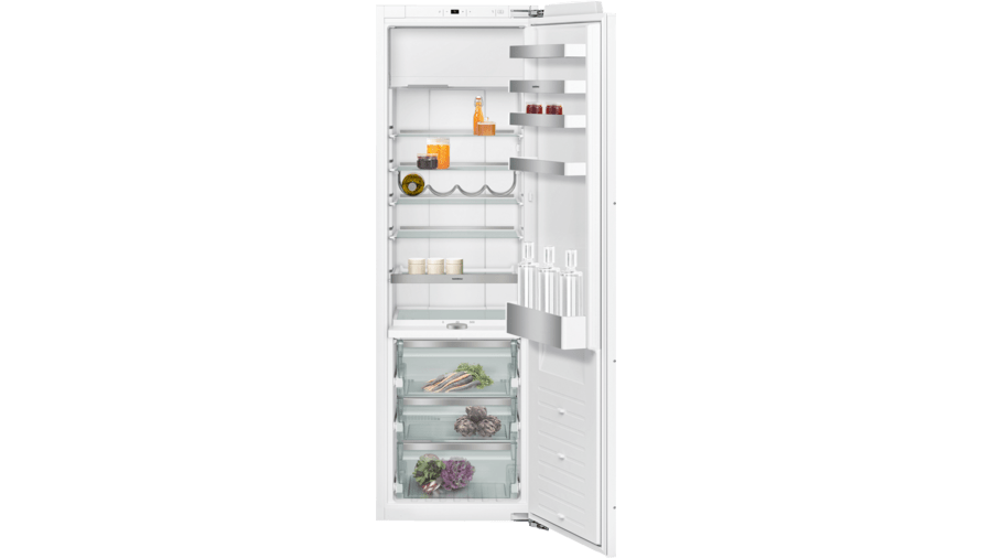 Fridge-freezer combination 200 series with fresh cooling close to 0 °C fully integrated Niche width 56 cm, Niche height 177.5 cm RT282305