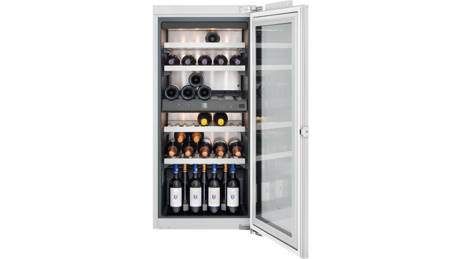 Wine climate cabinet fully integrated, with glass door Niche width 56 cm, Niche height 122 cm RW222262